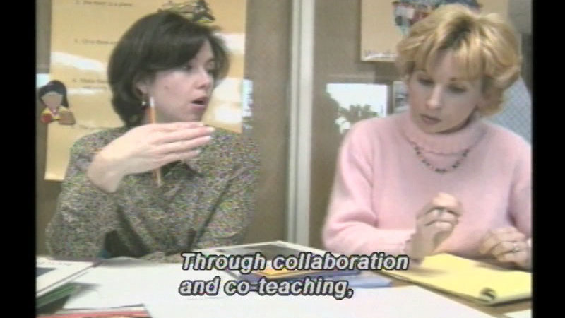 Still image from Collaborative Teaching: The Co-Teaching Model