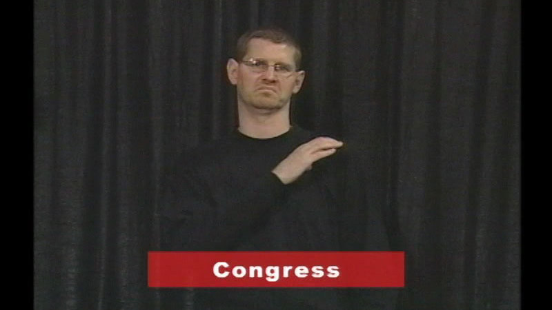 Still image from Vocabulary Builders In Sign Language: American History/Government