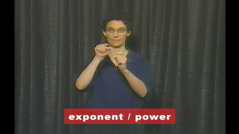 Still image from: Vocabulary Builders In Sign Language: Math