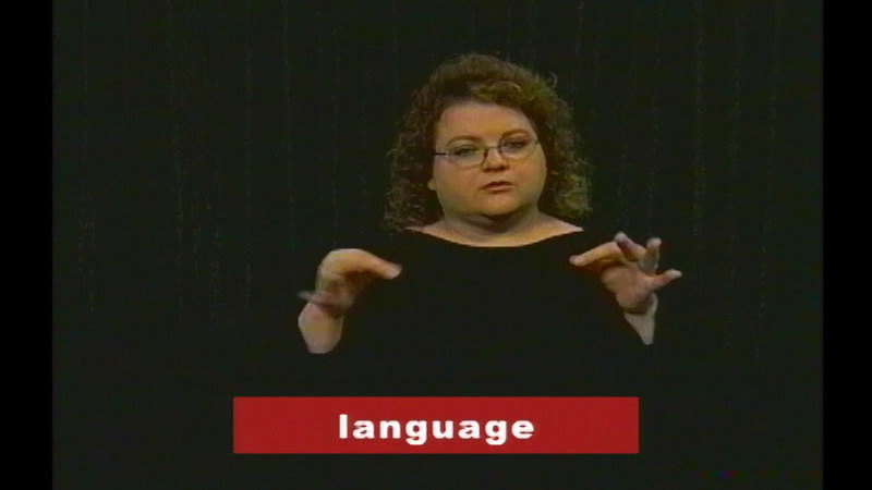Still image from: Vocabulary Builders In Sign Language: English