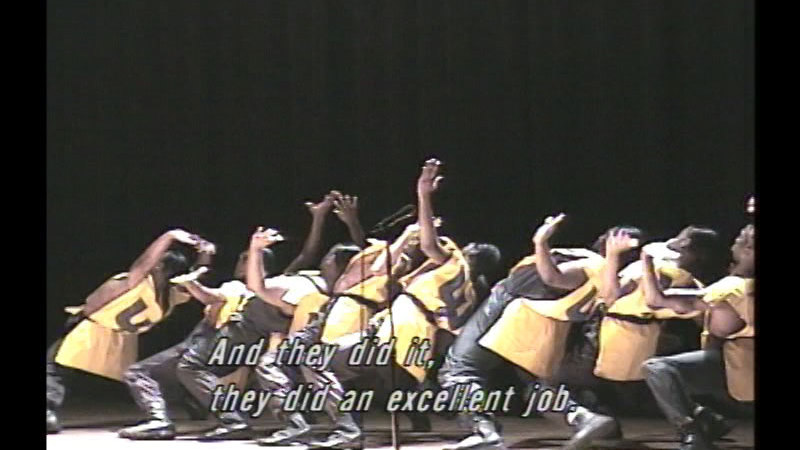 Still image from Many Steps: The Origin And Evolution Of African-American Collegiate Stepping