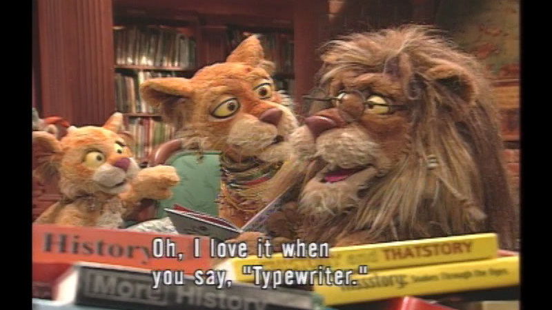 Still image from Between The Lions:  Clickety-Clack, Clickety-Clack!