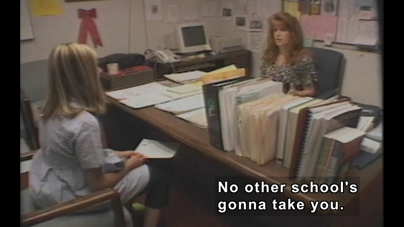 Still image from: The Teen Files Flipped: Bullies, Loners And Violence