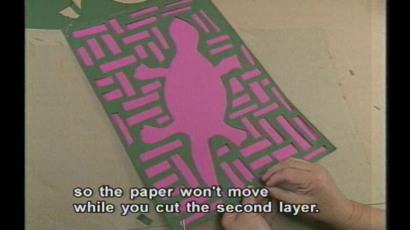 Still image from Paper Molas With Peggy Flores