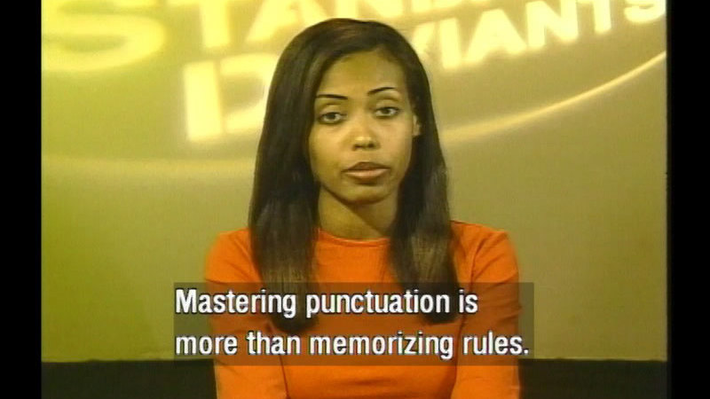 Still image from: Punctuation: Program 6--Introduction To Punctuation And The End Marks