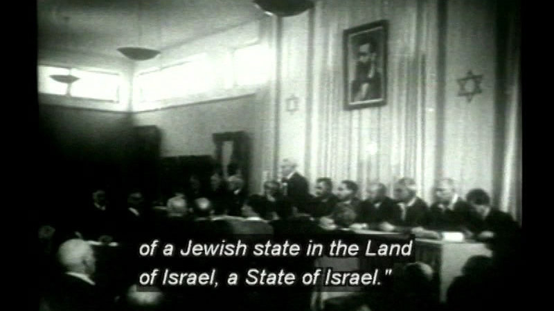 Still image from: To Realize A Dream: 100 Years Of Zionism