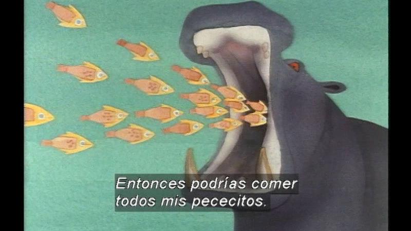 Still image from Hot Hippo (Spanish)