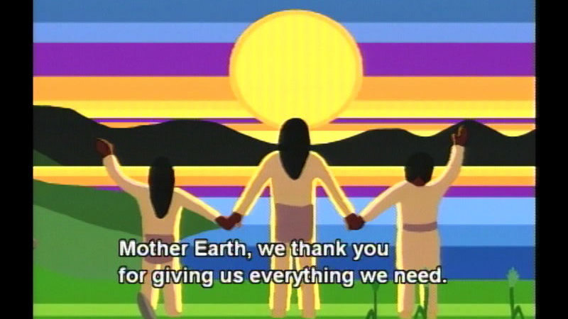 Still image from Giving Thanks:  A Native American Good Morning Message