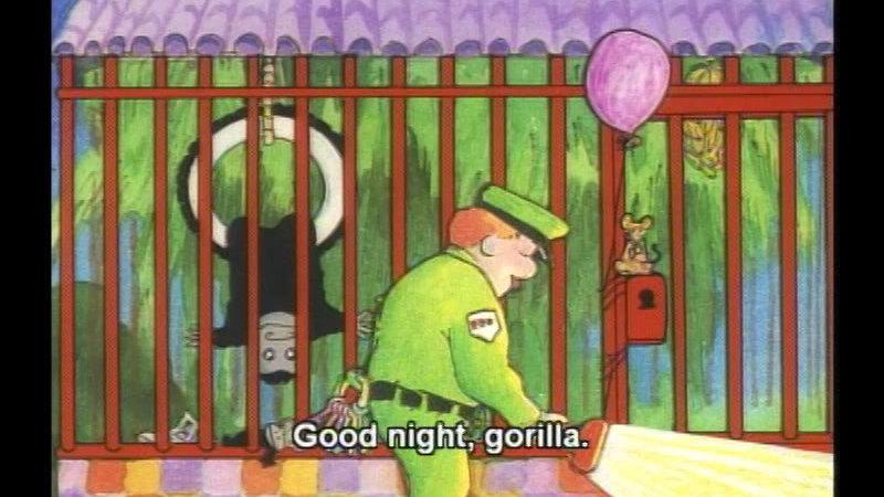 Still image from Good Night, Gorilla
