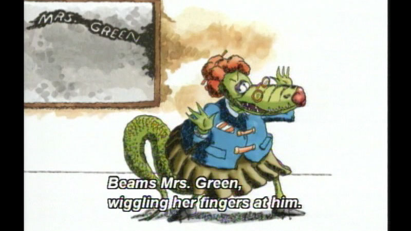 Still image from: The Teacher From the Black Lagoon