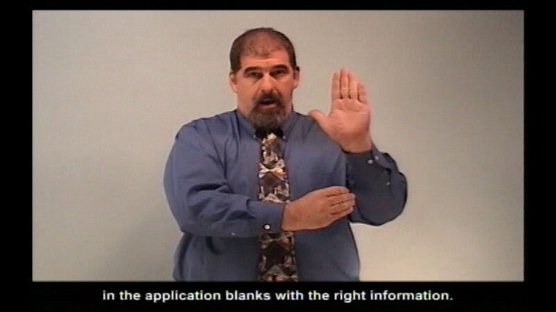Still image from: Completing Job Applications--Filling In The Blanks
