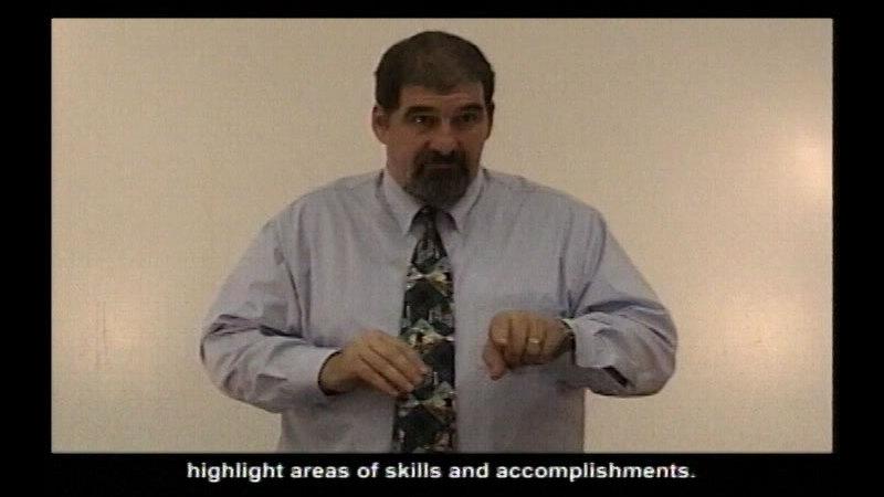 Still image from Resume Training