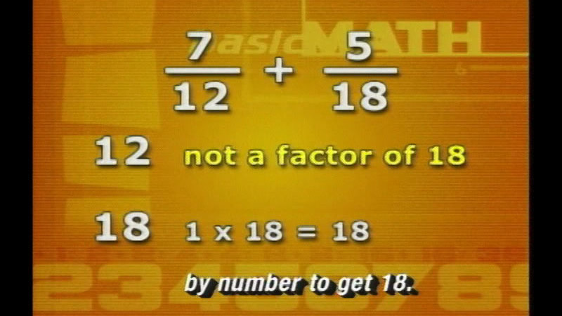 Still image from: Basic Math: Adding And Subtracting Fractions