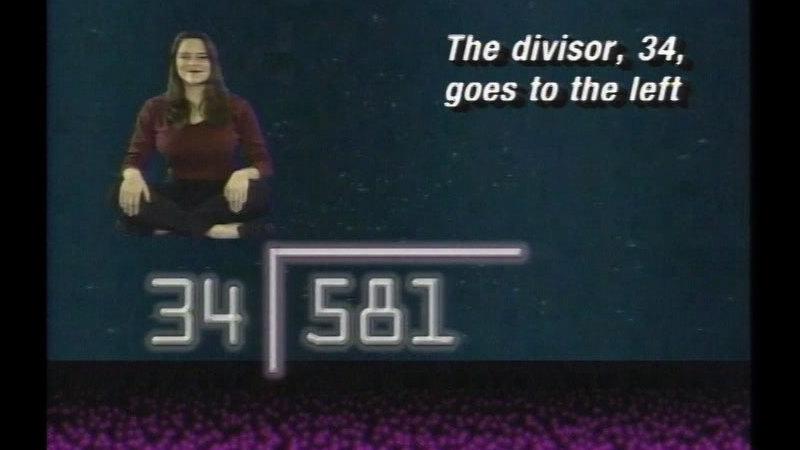 Still image from Basic Math: Dividing Integers