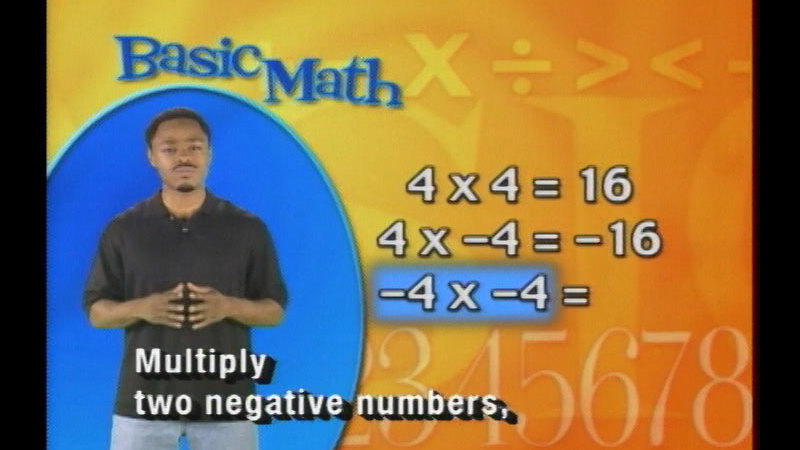 Still image from Basic Math: Multiplying Integers