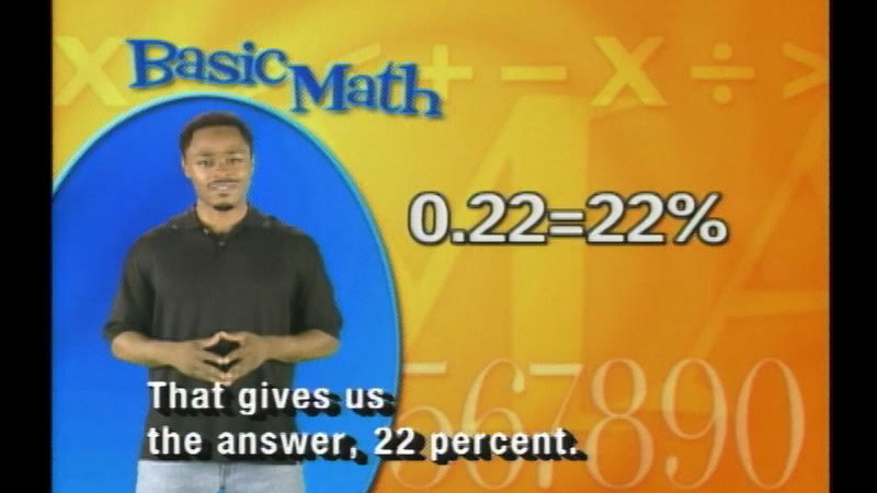 Still image from Basic Math: Ratios--Percents