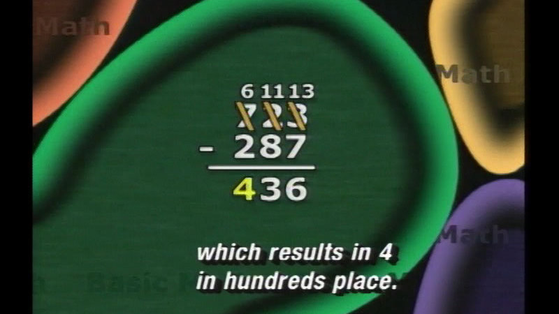 Still image from Basic Math: Subtracting Integers