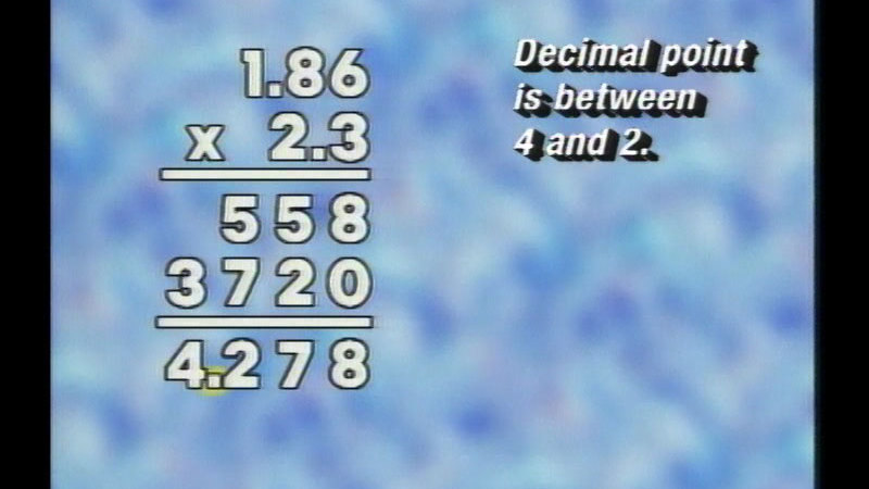 Still image from: Basic Math: Working With Decimals