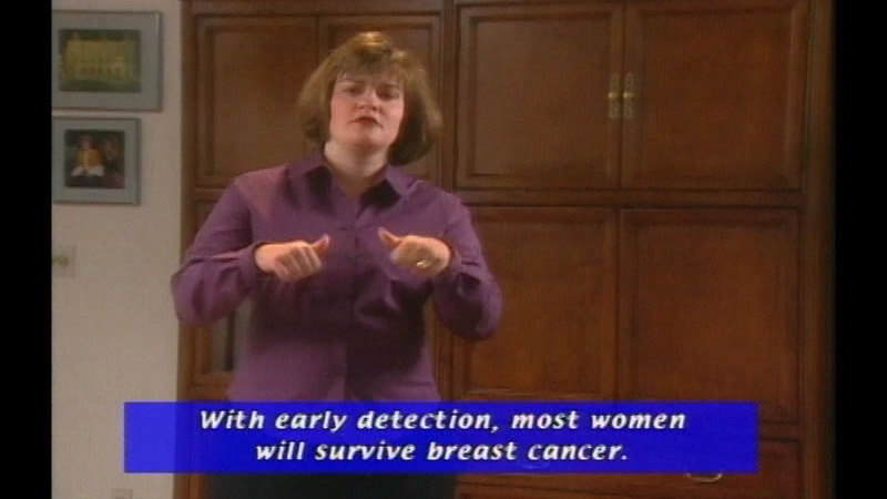 Still image from: Breast Cancer Education: Every Deaf And Hard Of Hearing Woman Counts!