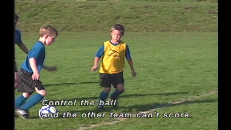 Still image from The Fundamentals of Soccer