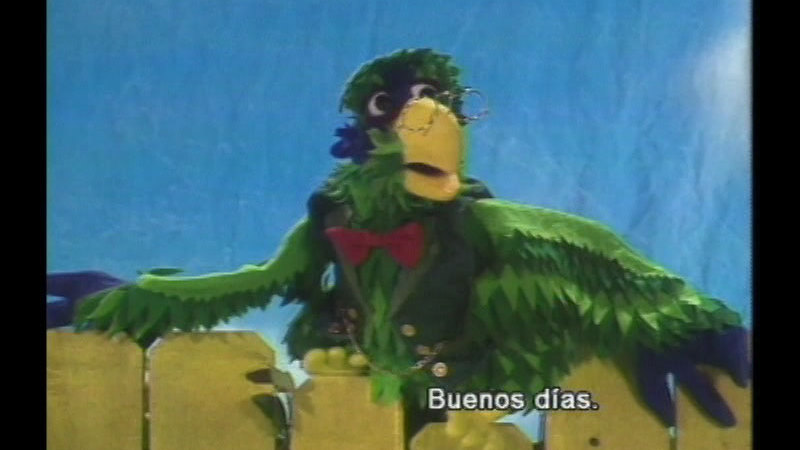 Still image from Professor Parrot Speaks Spanish: We Are Friends (Spanish)