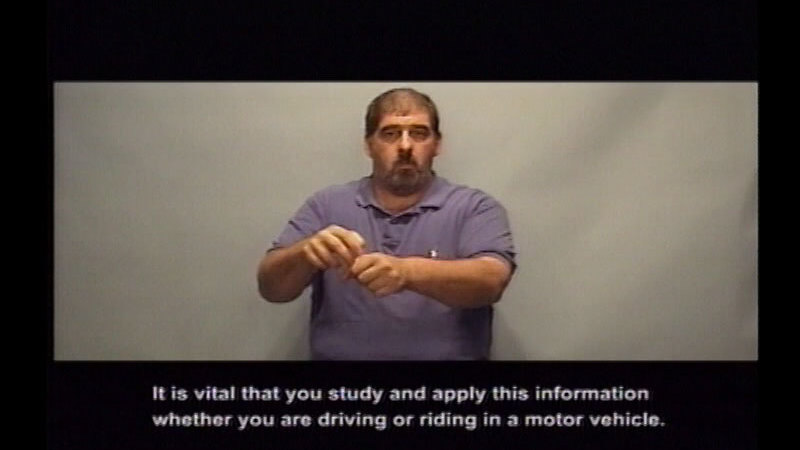 Still image from: Driver's Education: Part 14--Keeping You and Your Passengers Safe