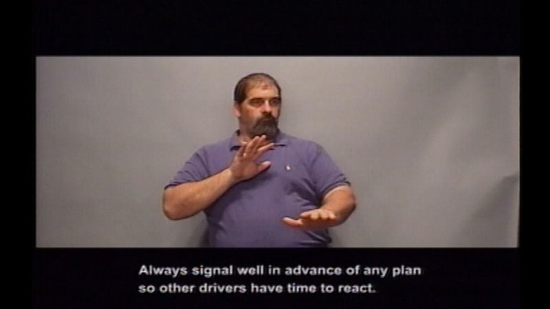 Still image from Driver's Education:  Part 6--Making Turns And Changing Lanes