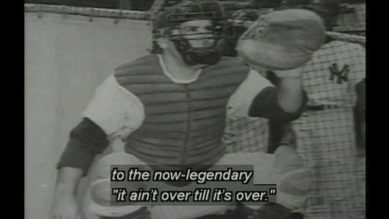 Still image from: Yogi Berra: In His Own Words