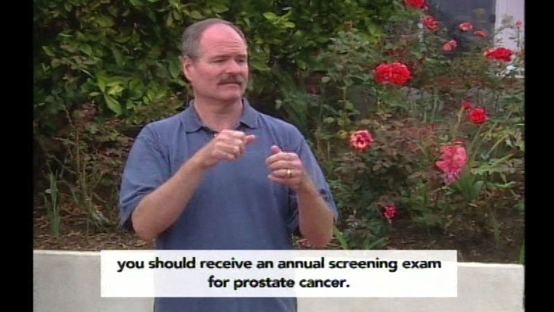 Still image from Know Your Options: Prostate and Testicular Cancer Information for the Deaf and Hard Of Hearing