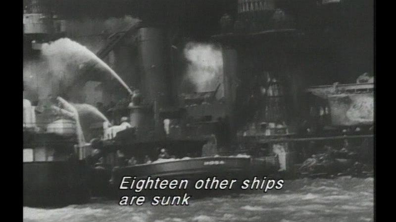 Still image from: Pearl Harbor & World War II