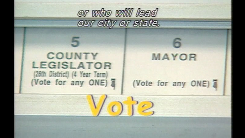 Still image from: We Vote