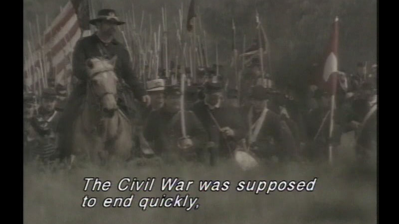 Still image from: The Battle of Gettysburg