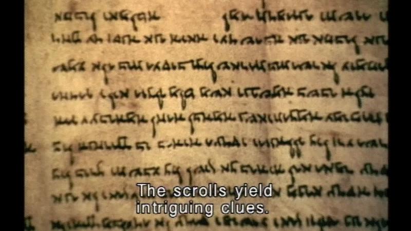 Still image from The Dead Sea Scrolls