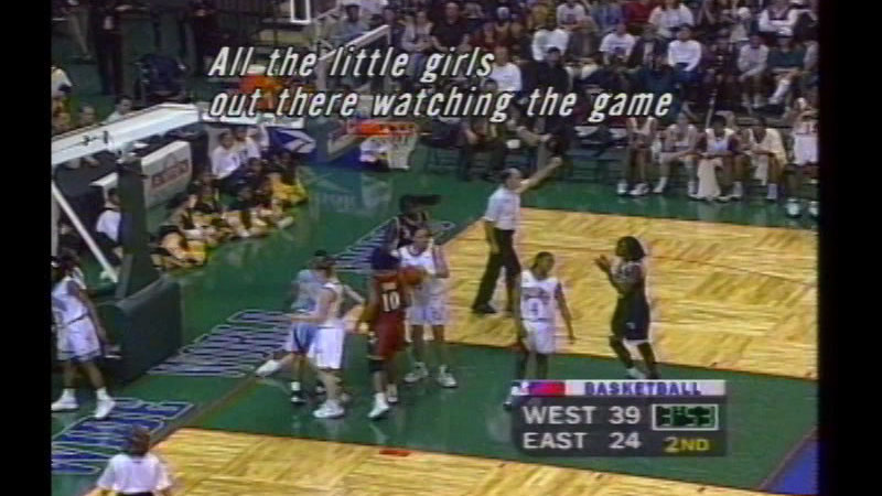 Still image from Breakin' the Glass: The American Basketball League, 1996-1998