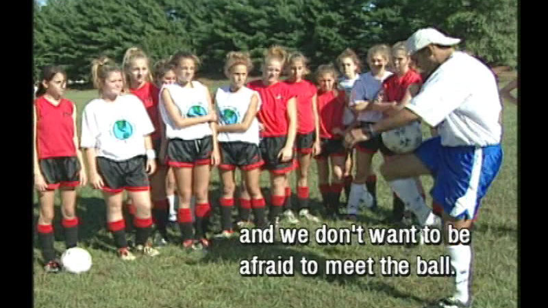 Still image from Soccer For Girls :  Intermediate Soccer