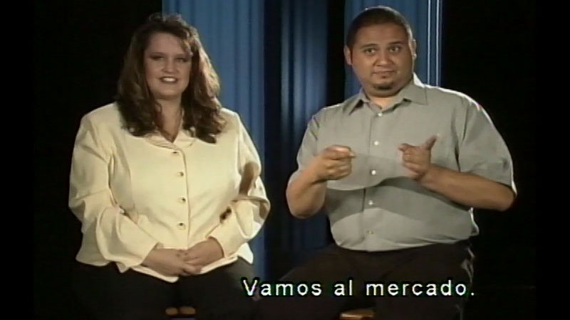 Still image from: Signing Fiesta Video Series 3: Video #3--Let's Go! (Spanish)