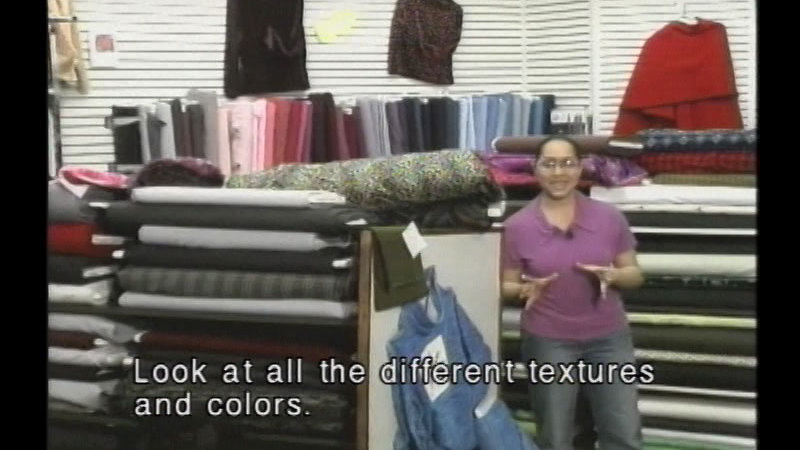 Still image from: A Tour of a Fabric Store