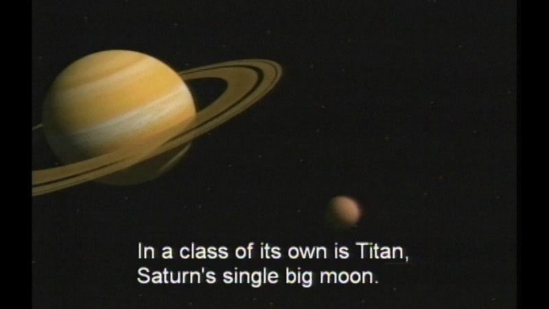 Still image from The Outer Solar System: Saturn