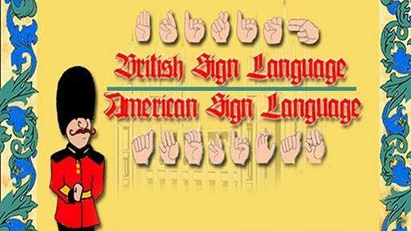 Still image from: British Sign Language And American Sign Language Translator