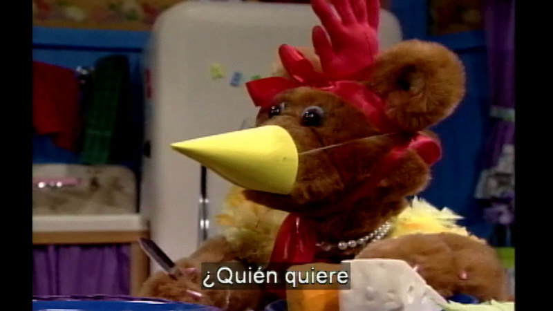 Still image from Salsa 19: The Little Red Hen (Spanish)