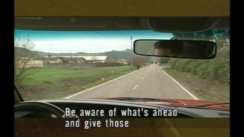 Still image from Rural Driving:  Not Just Another Drive In The Country