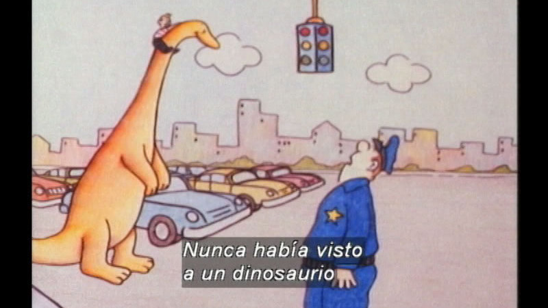 Still image from Danny And The Dinosaur (Spanish)