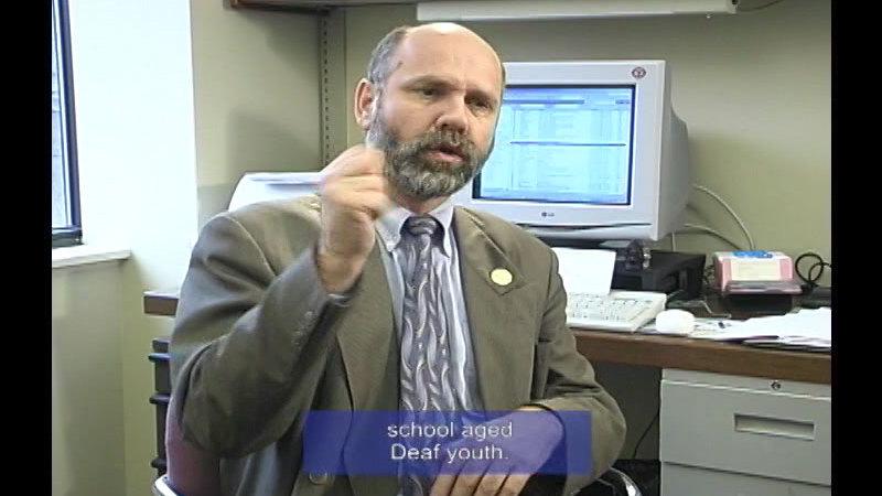 Still image from Deaf TV: Gary Malkowski