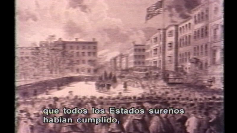 Still image from: The Divided House - The Second American Revolution (Spanish)