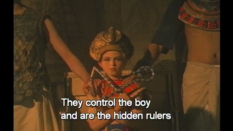 Still image from: Pharaoh Tutankhamen