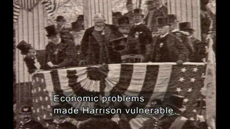 Still image from Garfield, Arthur, Cleveland,  & B. Harrison