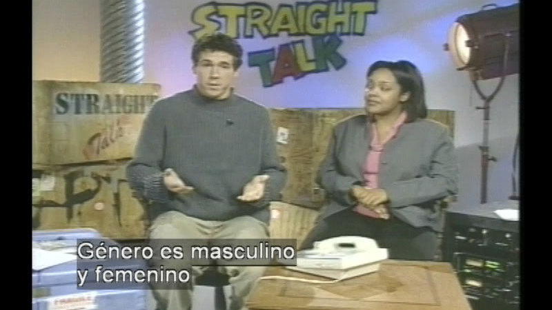 Still image from Straight Talk About Sex, Gender, And Media (Spanish)