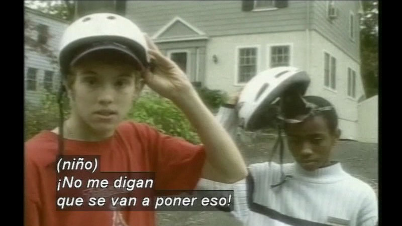 Still image from Straight Talk About Peer Pressure (Spanish)