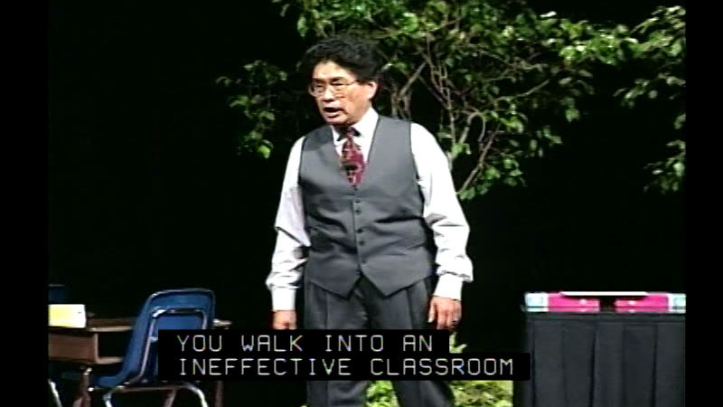 Still image from The Effective Teacher With Harry K. Wong, Part 3: Discipline And Procedures