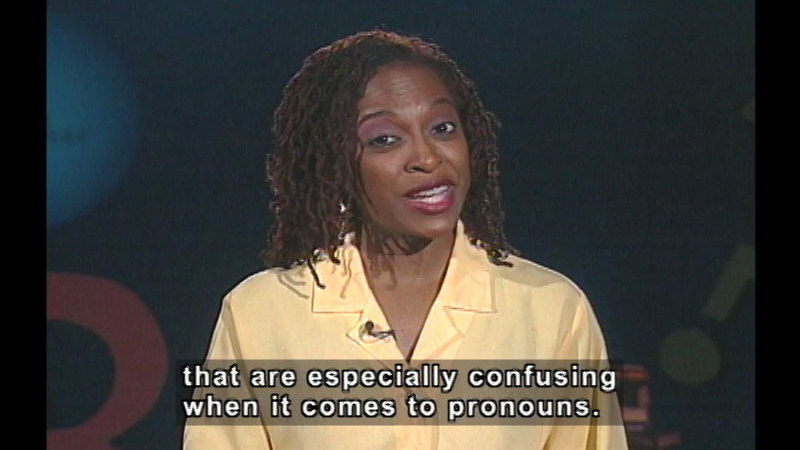 Still image from: Pronouns